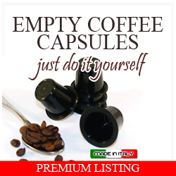 empty coffee capsules
